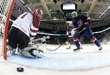 U.S. demolishes Latvia, 12-1